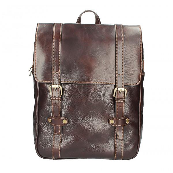 Kožený batoh MI233 tmavohnedý