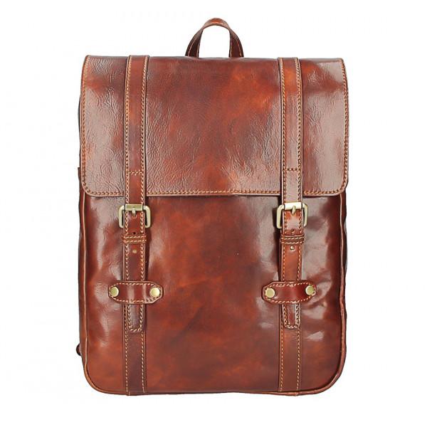 Kožený batoh MI233 hnedý