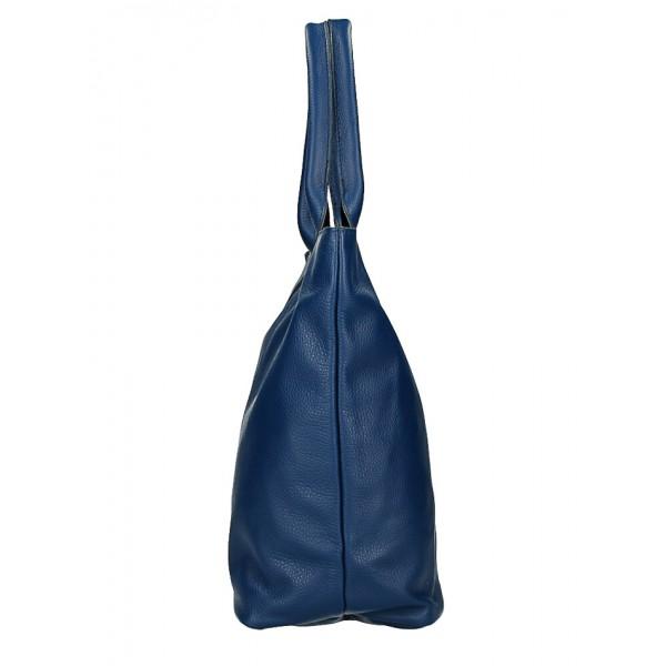 Kožená kabelka na rameno 1255 Made in Italy koňaková Koňak