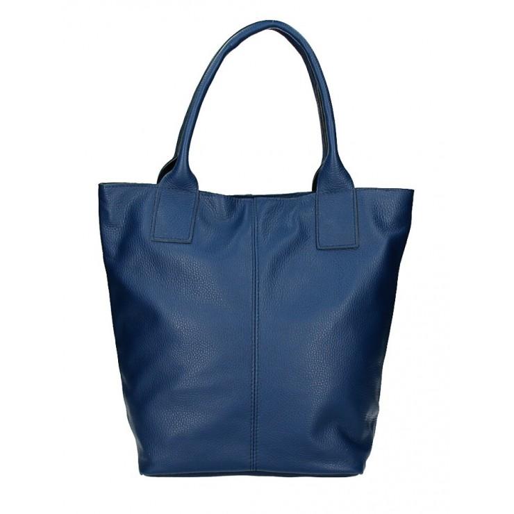 Kožená kabelka na rameno 1255 Made in Italy jeans