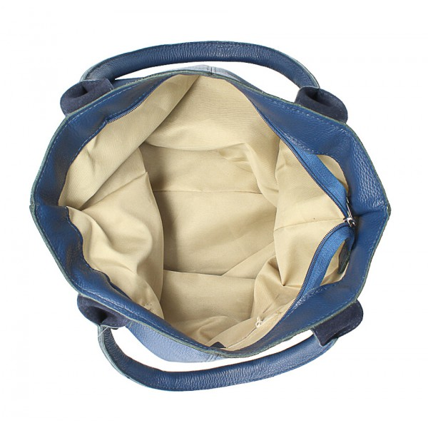 Kožená kabelka na rameno 1255 Made in Italy jeans Jeans