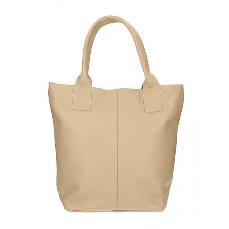 Leather Maxi Bag 1255 Made in Italy taupe