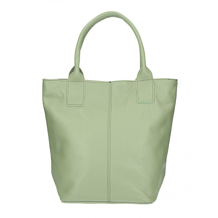 Leather Maxi Bag 1255 Made in Italy mint