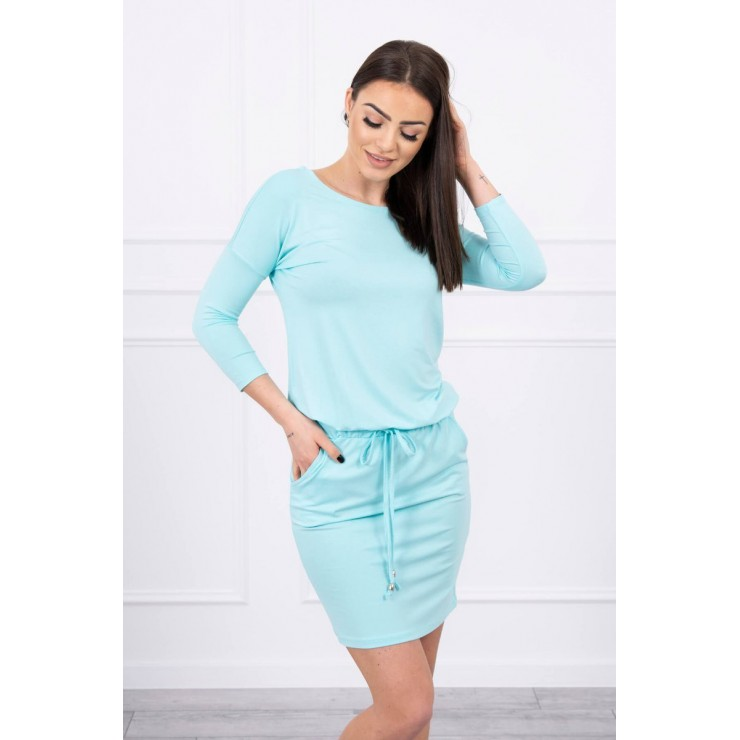 Women's dress tied at the waist MI9013 mint