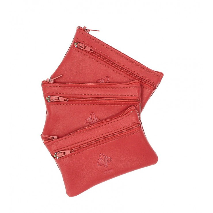Leather key chains 273 red Made in Italy