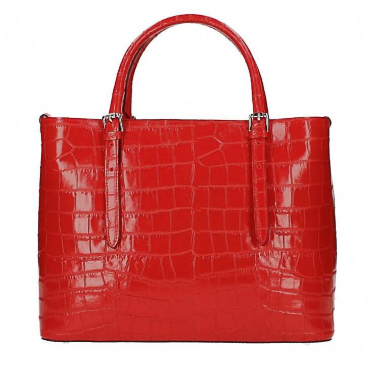 Kožená kabelka 1218 Made in Italy rudá