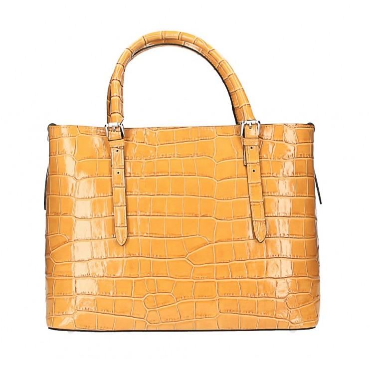 Kožená kabelka 1218 Made in Italy okrová