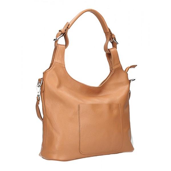 Kožená kabelka na rameno 205 MADE IN ITALY béžová Béžová