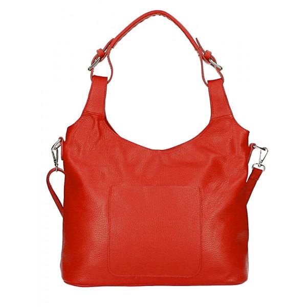Kožená kabelka na rameno 205 MADE IN ITALY červená Červená