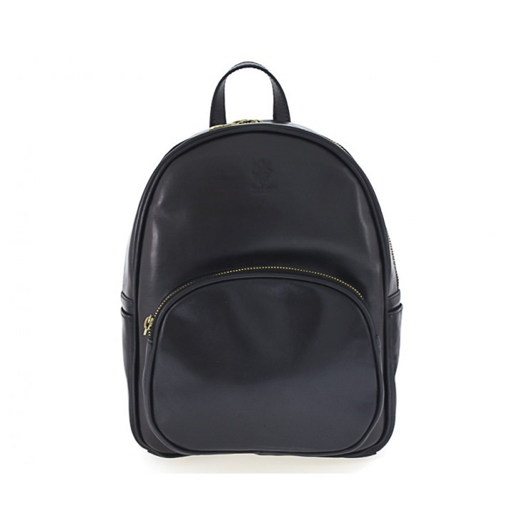 Leather backpack 292 Made in Italy black