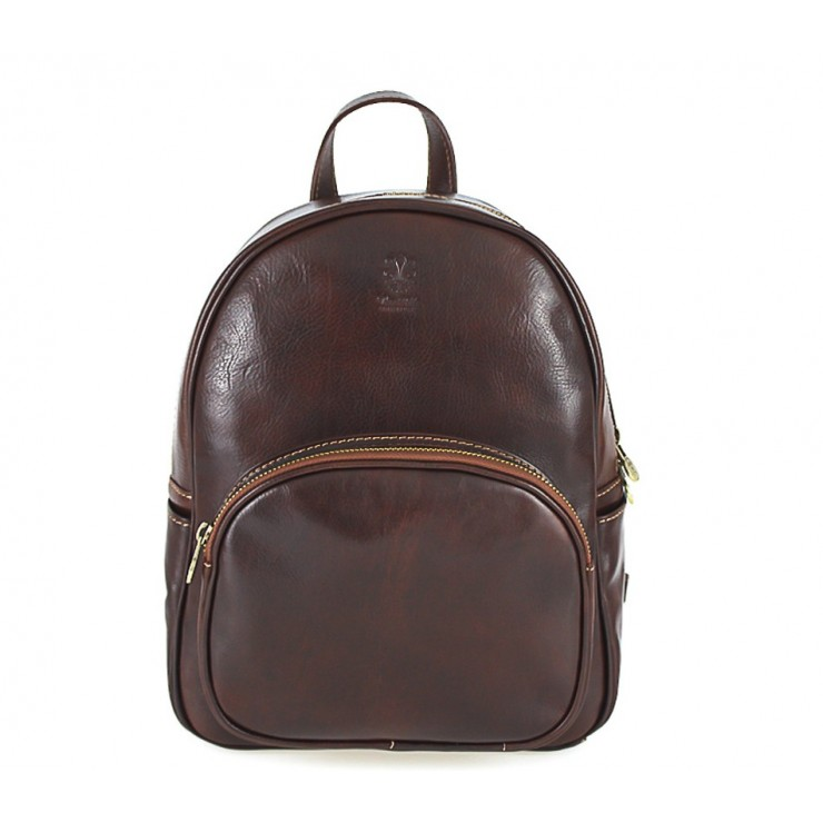 Leather backpack 292 Made in Italy brown