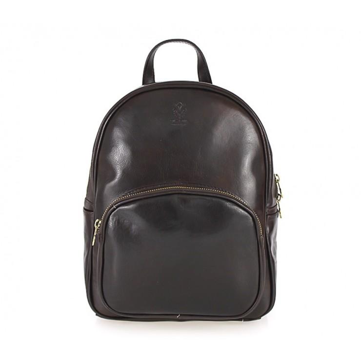 Kožený batoh 292 Made in Italy tmavohnedý