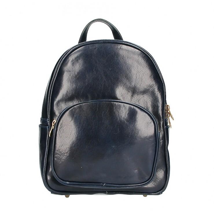 Kožený batoh 292 Made in Italy tmavomodrý