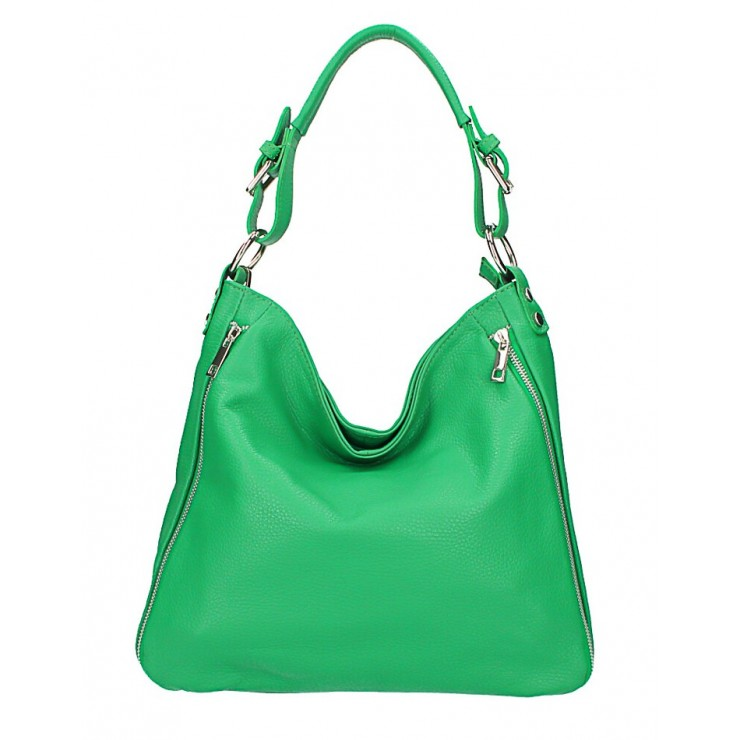 Zelená kožená kabelka na rameno 390