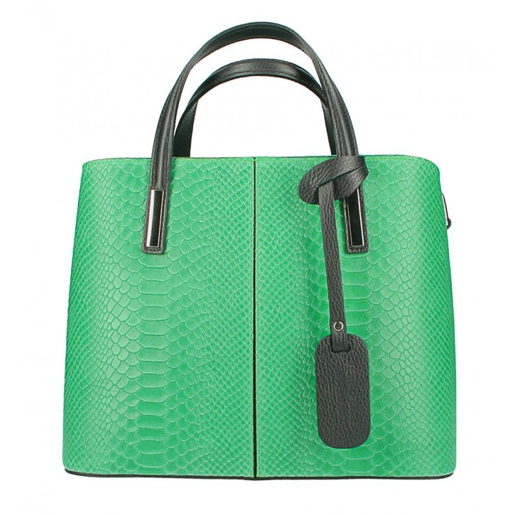 Genuine Leather Handbag 960 green