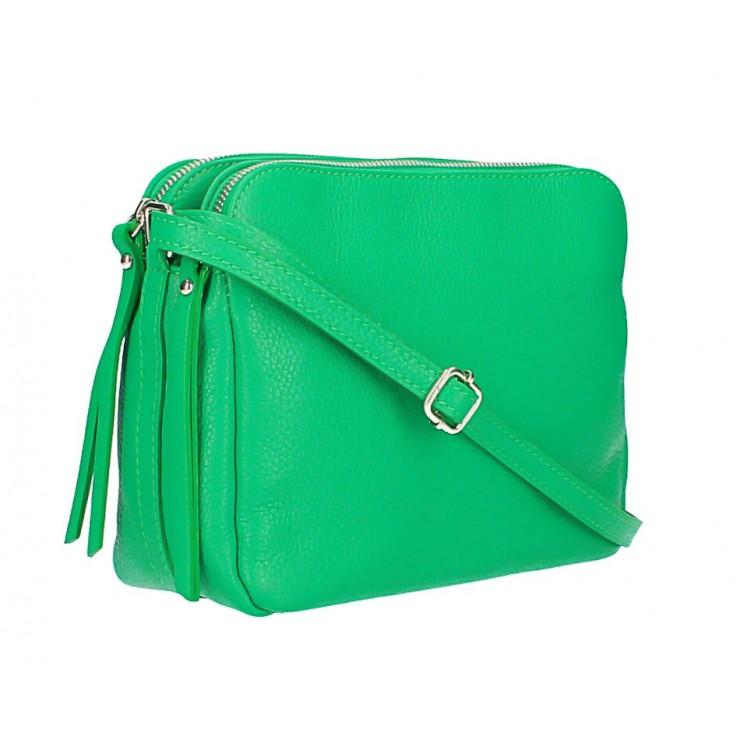 Kožená kabelka na rameno 517 zelená