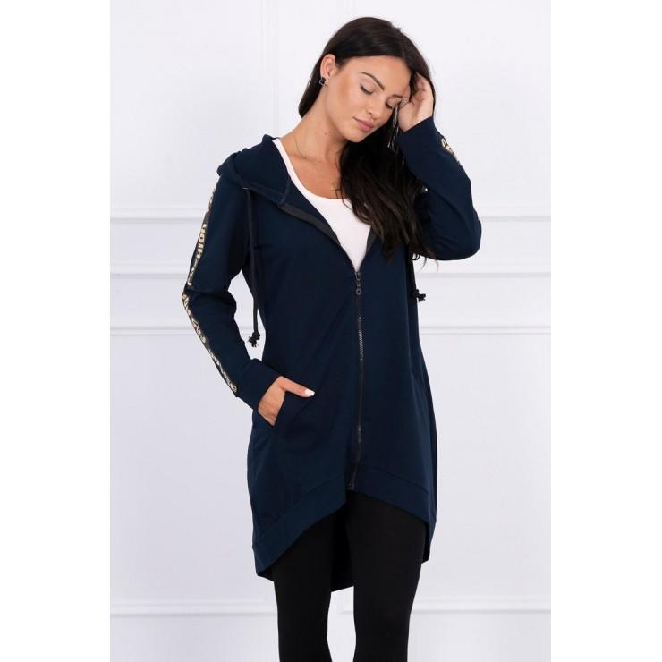 Women's sweatshirt with zipper at the back MI8997 dark blue