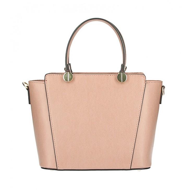 Genuine Leather Handbag  1461 powder pink