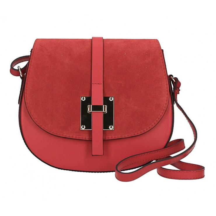 Kožená kabelka na rameno 942 tmavě rudá