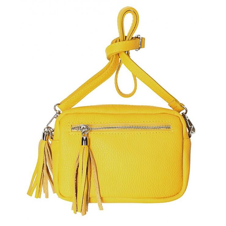 Dámska kožená kabelka na rameno 760 žltá