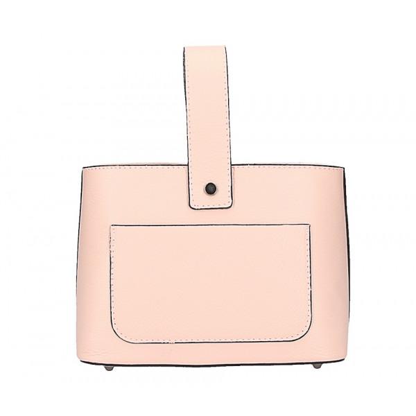 ad89457590 Kožená kabelka na rameno 9012 ružová - MONDO ITALIA s.r.o.