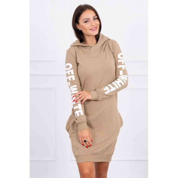 Dress Off White MI62182 camel