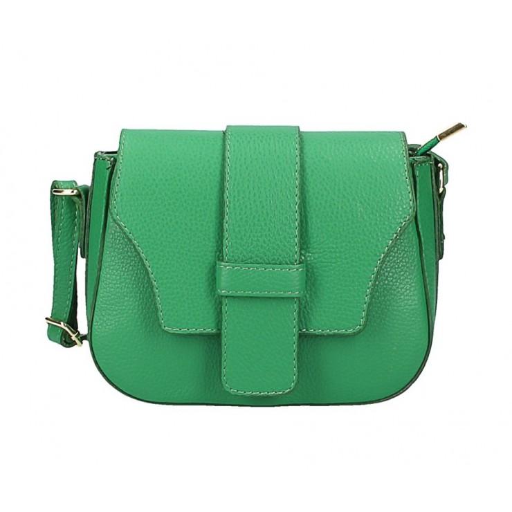 Zelená talianska kožená kabelka na rameno 870A