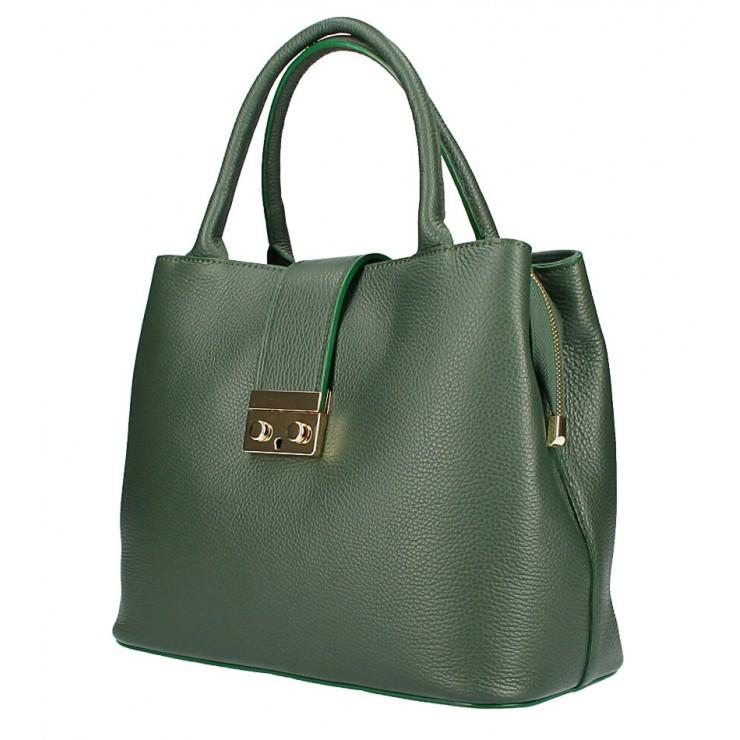 Woman Leather Handbag 1137 dark green