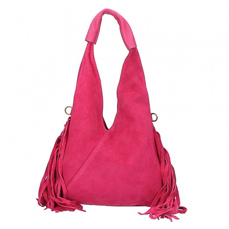 Suede Bag MI565 fuxia Made in Italy
