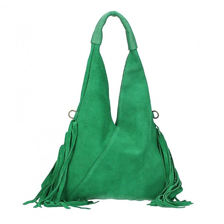 Kožená semišová kabelka MI565 Made in Italy