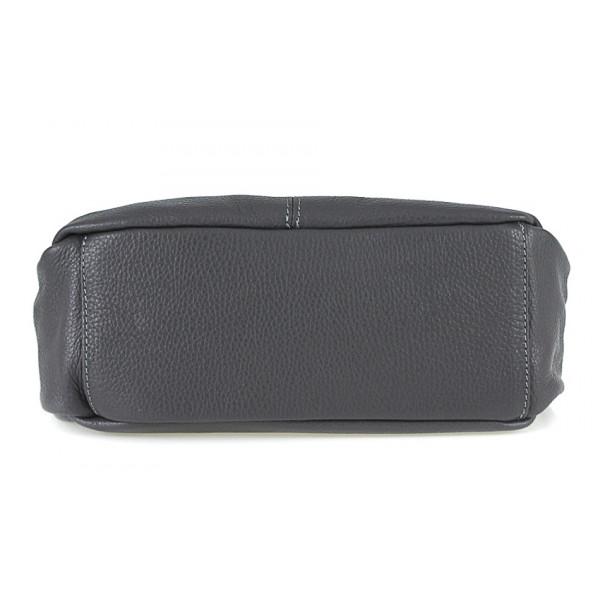 Kožená kabelka na rameno 392 mentolová Made in Italy Mäta
