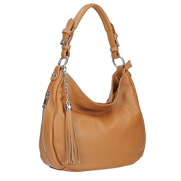 Kožená kabelka na rameno 210 mätová Made in Italy Mäta