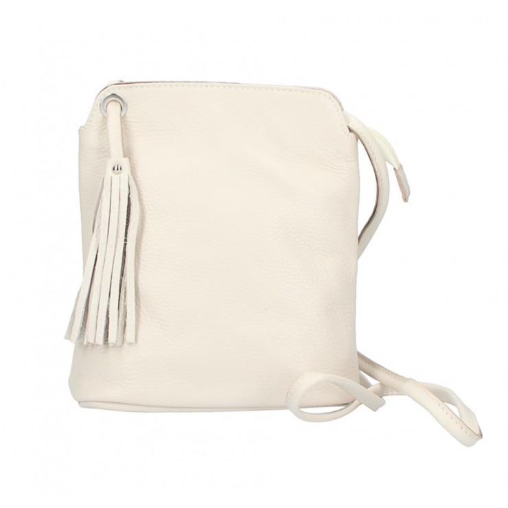 Kožená kabelka na rameno 5320 béžová