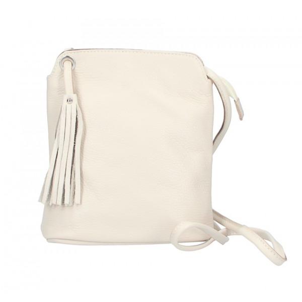 Kožená kabelka na rameno 5320 béžová Béžová