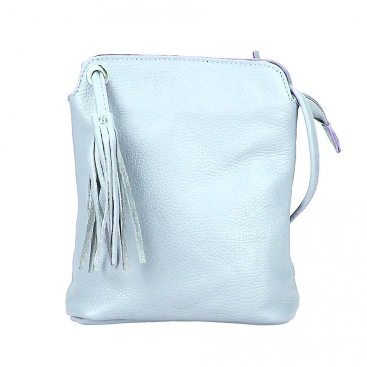 Kožená kabelka na rameno 5320 nebesky modrá