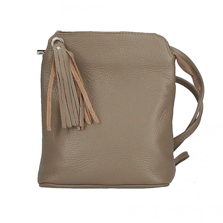 Kožená kabelka na rameno 5320 tmavá šedohnedá