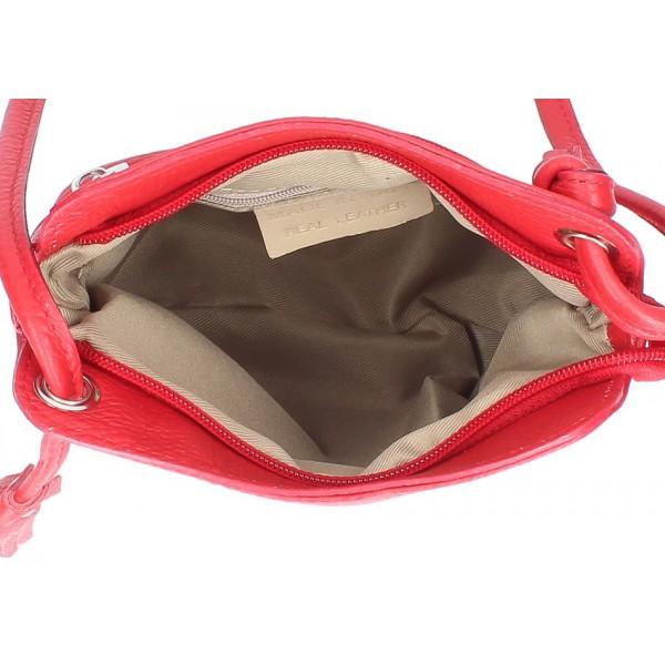 Kožená kabelka na rameno 5320 tmavá šedohnedá Šedohnedá