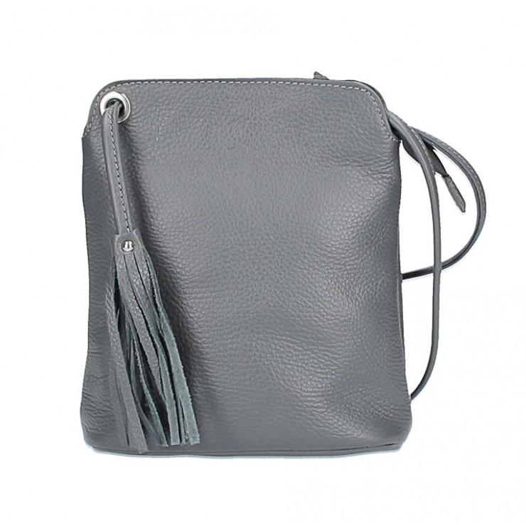 Kožená kabelka na rameno 5320 tmavošedá