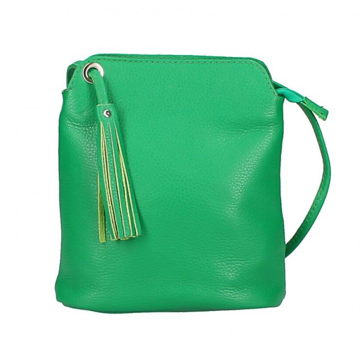 Kožená kabelka na rameno 5320 zelená