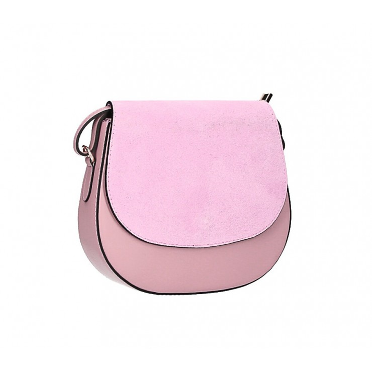 Leather Messenger Bag 1228 pink Made in Italy