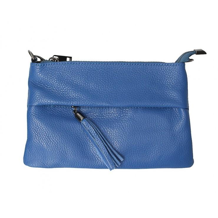 Kožená kabelka 1492 azurovo modrá
