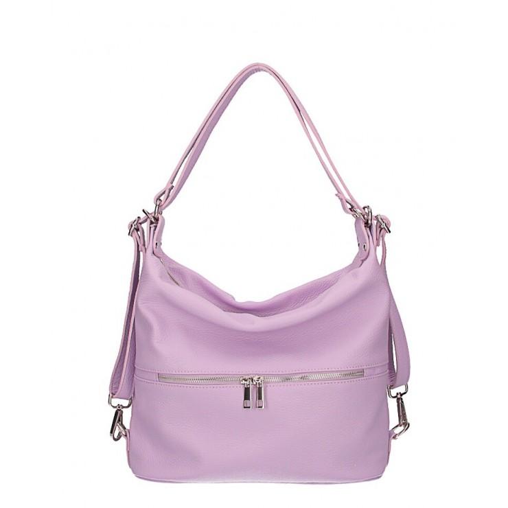 Kožená kabelka na rameno/batoh 328 fialová