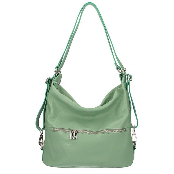 Leather shoulder bag/Backpack 328 mint