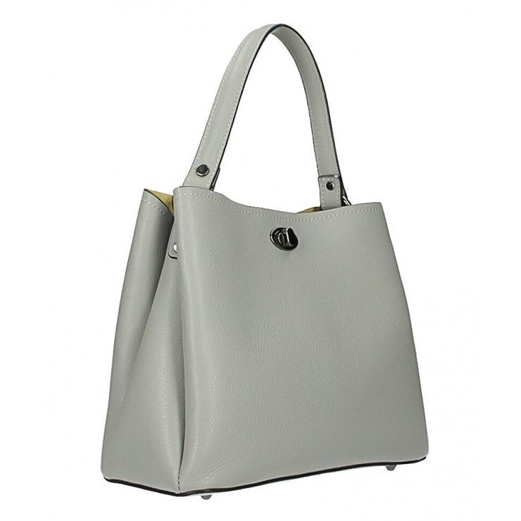Kožená kabelka do ruky 232 šedá MADE IN ITALY