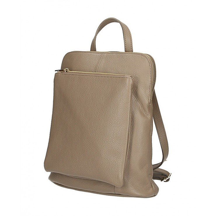 Leather backpack MI899 dark taupe Made in Italy