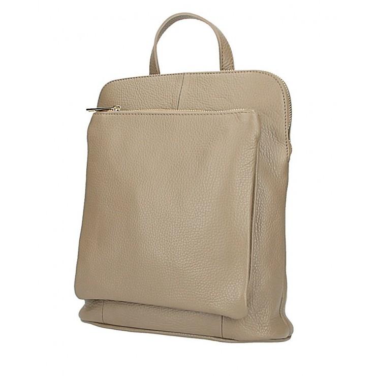 Kožený batoh MI899 šedohnedý Made in Italy