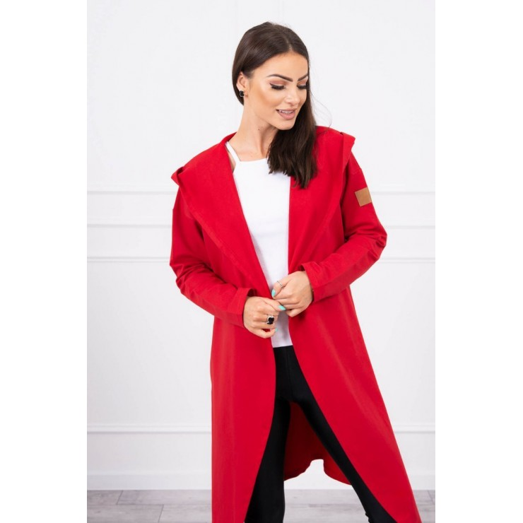 Cape with a hood MI9077 red