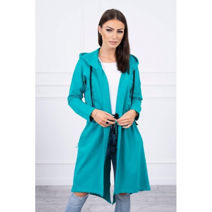 Cardigan with longer back MI8998 turquoise