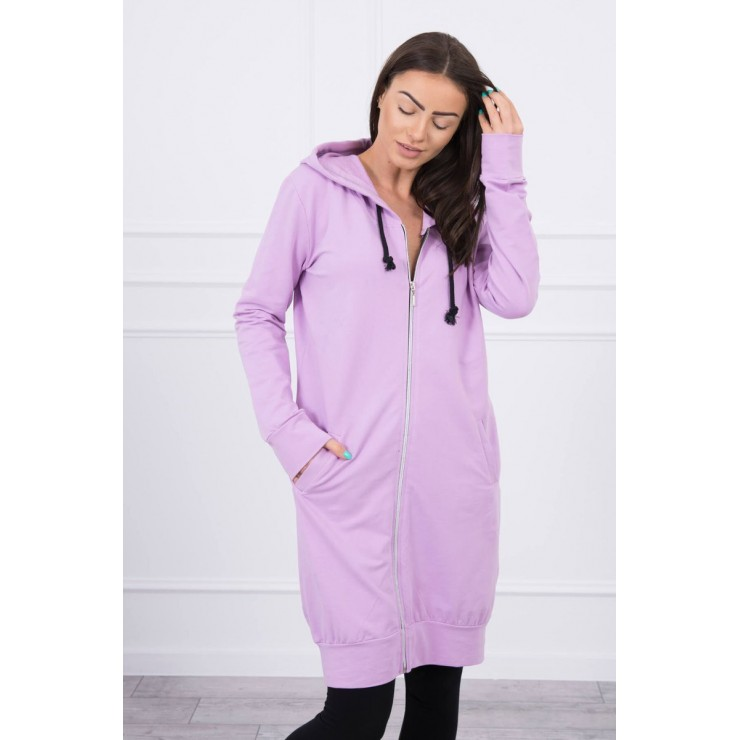Hooded dress with e hood  MI8924 purple