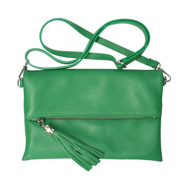 Kožená kabelka 668 zelená Zelená